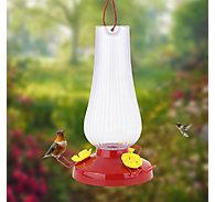 Perky-Pet® Fluted Oil Lamp Plastic Hummingbird Feeder