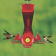 Perky-Pet® Pinch-Waist Red Plastic Hummingbird Feeder – 8 oz