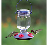 Perky-Pet® Lavender Field Top-Fill Glass Hummingbird Feeder - 16 oz Nectar Capacity