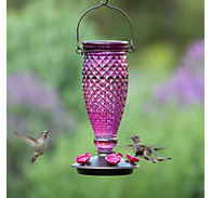 Perky-Pet® Diamond Wine Top-Fill Glass Hummingbird Feeder - 24 oz Nectar Capacity
