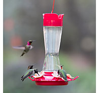 Perky-Pet® Top-Fill Pinch-Waist Glass Hummingbird Feeder-12 oz