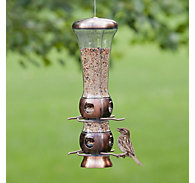 Perky-Pet® Select-A-Bird Tube Feeder with Copper Finish - 3.5 lb Seed Capacity