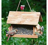 Perky-Pet® The Lodge Wild Bird Feeder - 8 lb Seed Capacity, 2 - 12 oz Suet Cakes