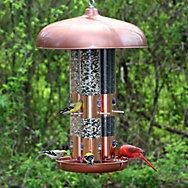 Perky-Pet® Copper Finish Triple Tube Bird Feeder - 10 lb Seed Capacity