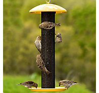Perky-Pet® Yellow Straight-Sided Finch Feeder - 1.5 lb Seed Capacity