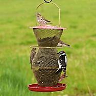 Perky-Pet® 3 Tier Standard Red & Brass Wild Bird Feeder - 4 lb Seed Capacity