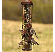 Perky-Pet® Squirrel-Be-Gone® Cylinder Wild Bird Feeder - 1.75 lb Seed Capacity