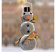 Perky-Pet® Snow Man Wild Bird Feeder - 2.25 lb Seed Capacity