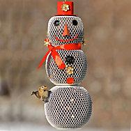 Perky-Pet® Snow Woman Wild Bird Feeder - 2.25 lb Seed Capacity
