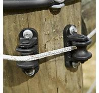 ElectroBraid® Black Roller Post Insulators - 10 / Pack