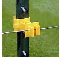 Zareba® Yellow Snap-On 2 Inch Extender T-Post Insulator