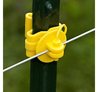 Zareba® Yellow Pin-Lock T-Post Insulator