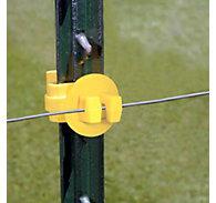 Zareba® Yellow Standard Snug-Fitting T-Post Insulator