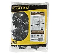 Zareba® Black Pin-Lock Wood and T-Post Insulator