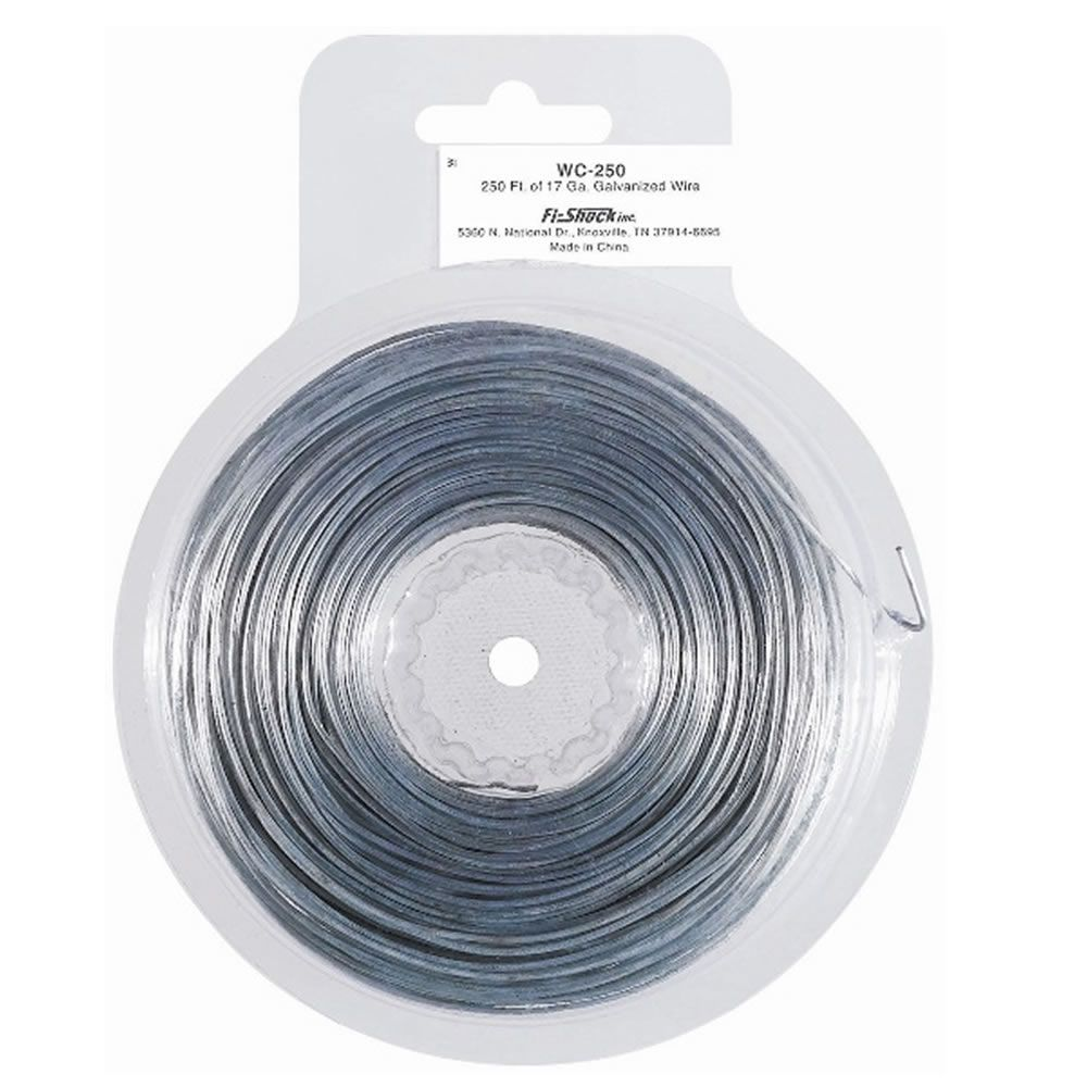 250 Feet 17 Gauge Steel Electric Fence Wire Zareba