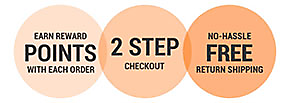 Benefits of My Account: Reward Points, 2-Step Checkout, Free Return Shipping