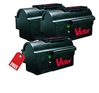 Victor® Multi-Kill™ Electronic Mouse Trap - Buy 2 Traps, Get 1 FREE