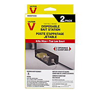 Victor® Fast-Kill® Disposable Mouse Poison Bait Station - 2 Pack