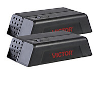 Victor® Electronic Mouse Trap - FREE Batteries - 2 Traps