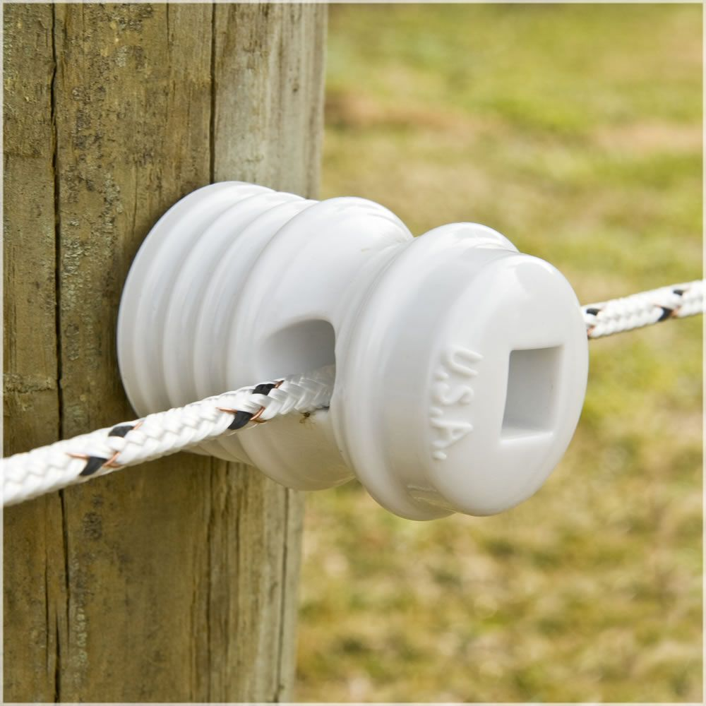 Heavy Duty Porcelain Corner Insulator for Electric fence on Wood Posts 10pk